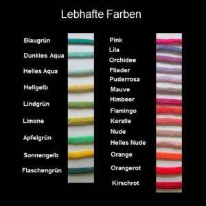 Farbkarte lebhaft